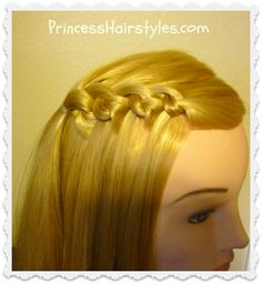 Flip knot waterfall braid video tutorial
