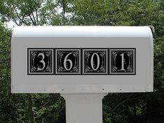 Vinyl Numbers for Metal Mailboxes by DotDotDotEmbroidery on Etsy, $6.98