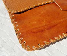 Tan Leather Clutch bag2017 @wildstarlondon
