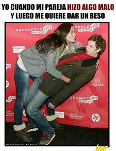 When my gf do something bad. And try to Kiss me