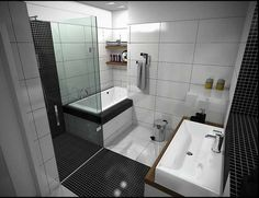 Astounding Modern Bathroom Designs For Small Bathrooms. Adorable Modern Bathroom Designs For Small Bathrooms Come With White Lacquered Wooden Vanity C. Modern Bathroom Designs For Small Spaces Small Bathroom Floor Plans, Small Bathroom Interior, Small Bathroom Layout, Modern Small Bathrooms, Bathroom Design Luxury, Amazing Bathrooms, White Bathroom, Bathroom Modern, Narrow Bathroom
