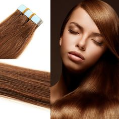 Tape Hair Extensions Brazilian Virgin Hair Extensions Adhesive 20PcsPack Straight Tape In Human Hair Extensions