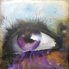 "Saatchi Art is pleased to offer the painting, ""Seer,"" by Joel Wright. Original Painting: Acrylic on Canvas. Into The Wild, Street Art, Eye Painting, Wow Art, Oeuvre D'art, Amazing Art, Awesome, Saatchi Art, Art Drawings"