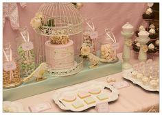 vintage-bird-themed-baby-shower-mint-pink