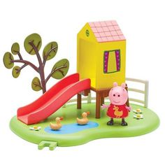 Peppa Pig Peppa's Outdoor Fun Slide Playset With Peppa Figure: Peppa Loves her slide. Push peppa down the slide! Push Peppa Down The Slide! Peppa Loves Her Slide Articulated Peppa Figure Included Ages 3 Years+ Best Toddler Toys, Best Baby Toys, Best Kids Toys, Childrens Toy Storage, Baby Toy Storage, Peppa Pig, Boys Toys For Christmas, Little Girl Toys, Toys Uk