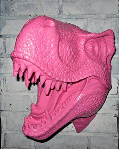 Items similar to Faux Taxidermy / Faux T-Rex / Dinosaur /Aqua Wall Decor on Etsy Aqua Walls, Girls Room Wall Decor, Boy Girl Room, Dinosaur Nursery, Faux Taxidermy, T Rex, Kids Decor, Decoration, Pretty In Pink