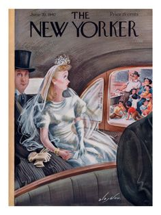 The New Yorker, June (Cover art by Constantin Alajálov. The New Yorker, New Yorker Covers, Old Magazines, Vintage Magazines, Vintage Comics, Vintage Posters, Capas New Yorker, Cover Art, Ligne Claire