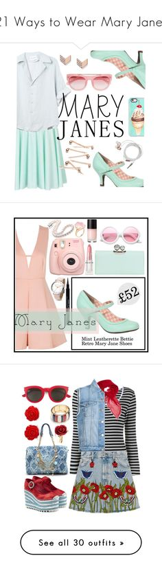 """""""21 Ways to Wear Mary Janes"""" by polyvore-editorial ❤ liked on Polyvore featuring maryjanes, waystowear, FOSSIL, Casetify, Erdem, Free People, Nicole Miller, backtoshool, Ted Baker and ZeroUV"""