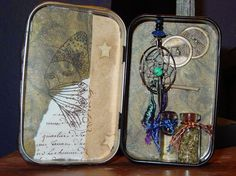 Generic 4 Elements travel altoid tin altar.