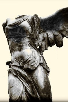 Winged Victory of Samothrace, 190 BC Gonzalo Fernandez Antunes     This is my favorite as you walk into a room this is at the top of a set up stairs in the Louvre with windows on the ceiling coming down to shine on this statue, you can't help but stare.