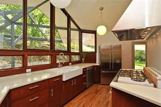 Mid Century Kitchen Design | ... these windows. Could you live without upper cabinets in your kitchen