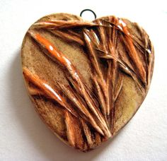 Handmade Pendant Ceramic Wild Grass in by maryhardingjewelry, $26.00