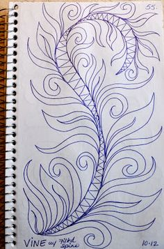 LuAnn Kessi: Sketch Book.....Feathers w/Filled Spine