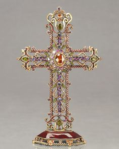 """""""Mica"""" Cross Objet by Jay Strongwater at Horchow #jaystrongwater #cross"""
