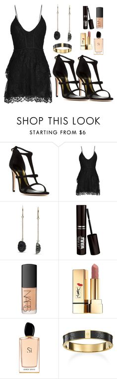"""Killer Queen"" by prentissflorick ❤ liked on Polyvore featuring Sebastian Milano, Isabel Marant, Pearl & Black, NARS Cosmetics, Yves Saint Laurent and Giorgio Armani"