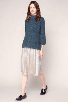 Mid-length skirt - Brown / Bronze 1