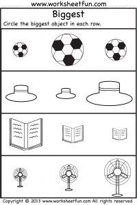 Preschool Worksheets - Biggest and Smallest