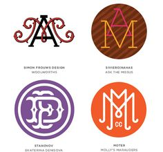 Graphic design trends 2014 according to Logo Lounge: Monogrammed Logos.