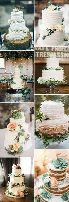 beautiful-floral-greenery-wedding-cake-ideas-for-2017.jpg (600×1735)