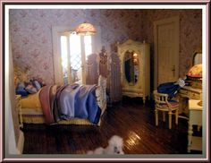 Gallery 2 : Dollhouse Linens and More, Custom made dollhouse drapes and beds