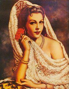 Retro Mexico: Jesus Helguera (May 1910 – December was a Mexican… Spanish Woman, Spanish Art, Spanish Ladies, Spanish Gypsy, Spanish Dancer, Mexican Artwork, Mexican Folk Art, Mexican Paintings, Art Latino
