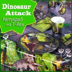 Party Deko für Kindergeburtstag Dinosaurier
