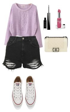 """""""Sans titre #151"""" by elfataneyassmine on Polyvore featuring Chicnova Fashion, Topshop, Givenchy, Chanel et Converse"""