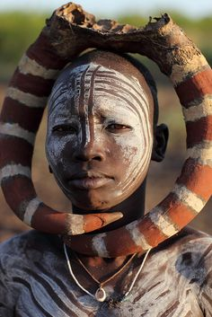 Ethiopian Tribes, Mursi by Dietmar Temps, via Flickr