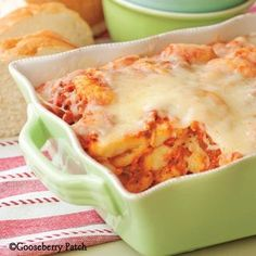 Back to School Suppers: Easy 5-Ingredient Gnocchi Casserole from Gooseberry Patch.