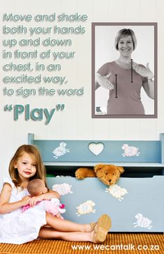 """Sign """"Play"""" in South African Sign Language :) Baby Sign Language, Love Signs, Scouts, Languages, African, Play, Learning, Tips, Idioms"""
