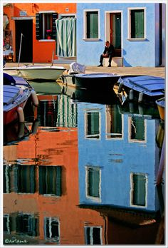 I'm wondering if I could draw this. I've been looking for the right thing to try as a gift for my dad. Hum... Repose in Burano, Venice  By aviana2