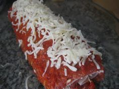 Coeur de cuisine: Rollo de carne picada Relleno, Delicious Food, Chicken, Meat, Pastries, Beverages, Pink Heels, Food Items, Kitchens