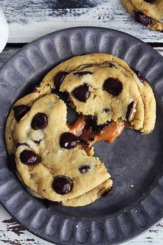 Soft and chewy Salted Caramel Chocolate Chip Cookies - Recipe