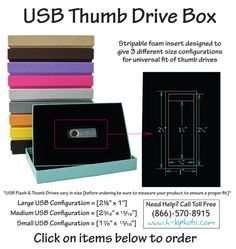 USB Thumb Drive Boxes now Available!!