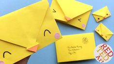Origami Envelope Chick - Paper Crafts for Kids Seriously cute and easy Origami Envelope pattern. Turn this easy origami for kids project into adorable an Origami Envelope Chick for Easter! Paper Folding Crafts, Paper Crafts For Kids, Diy Paper, Paper Clay, Envelope Tutorial, Envelope Pattern, Origami Letter, Origami Art, Bunny Origami