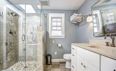 How do you get a clean pebble shower floor that will shine? This guide will explain how to keep the shower floor looking squeaky clean. Modern Bathrooms Interior, Small Bathroom Renovations, Diy Bathroom Remodel, Bath Remodel, Bathroom Remodeling, Remodeling Ideas, Bathroom Ideas, Bathroom Trends, Interior Modern