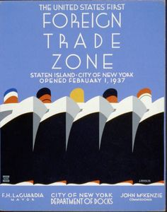 Foreign Trade Zone Ships Vintage Travel Posters Unique Wall Art — MUSEUM OUTLETS