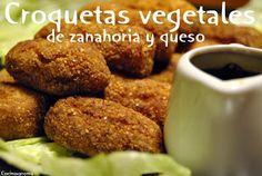 Cocina Varoma: Croquetas vegetales de queso y zanahoria.