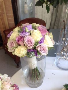 Lilac, memory lane roses, lilac and cream wedding bouquet, bridal hand tied, wedding bouquet, wedding flower bouquet,Vintage wedding bouquet. Vintage wedding flowers
