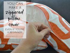 make a zippered pillow cover