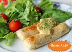 PANELATERAPIA - Blog de Culinária, Gastronomia e Receitas: Rolinhos de Salmão com Molho de Mostarda e Mel