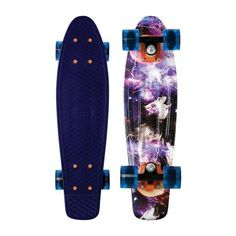 """Penny Plastic Nickel Space Navy Complete Skateboard Cruiser 7.5"""" x 27"""" (155 AUD) ❤ liked on Polyvore"""