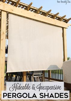 Hidden and inexpensive pergola parasols!, Hidden and inexpensive pergola parasols! protection There are several points that can lastly complete a person's back yard, like an antique white colored picket.