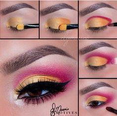 Eye Makeup Steps, Makeup Eye Looks, Beautiful Eye Makeup, Eye Makeup Art, Eye Makeup Remover, Eyebrow Makeup, Skin Makeup, Eyeshadow Makeup, Maybelline Eyeshadow