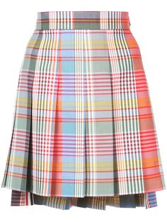 Achetez Thom Browne Fun Mix plaid skirt
