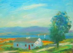 Original Irish Coastal Scene Painting Ireland Connemara Homage to Paul Henry Irish Landscape, Connemara, Impressionism, Worlds Largest, Ireland, Coastal, Scene, The Originals, Artist