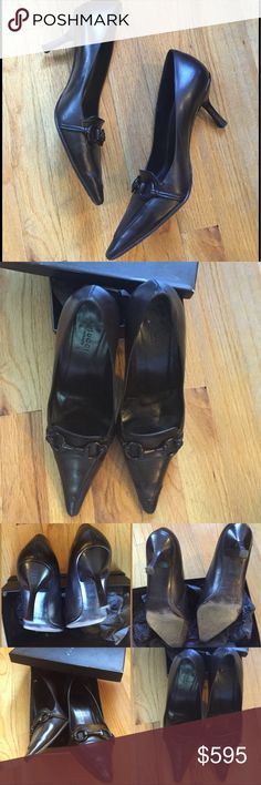 🆕Gucci Horsebit Pumps Please review pictures. Purchased in Rome, Spanish Steps store. Gucci horsebit brown leather pumps. Size IT 40.5C, but runs small (fits like US 9.5). Ask questions before purchase pls. 🚫 NO OFFERS 🚫 NO TRADES Gucci Shoes Heels