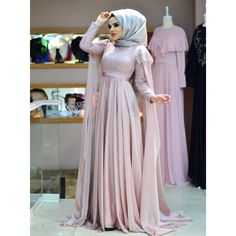 Image may contain: 1 person Hijab Style Dress, Modest Fashion Hijab, Modesty Fashion, Dress Outfits, Fashion Dresses, Muslim Wedding Gown, Hijab Wedding Dresses, Muslim Dress, Indian Wedding Outfits
