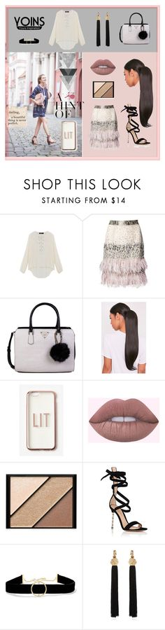 """""""Yoins"""" by explorer-14673103603 ❤ liked on Polyvore featuring Matthew Williamson, GUESS, Missguided, Elizabeth Arden, Gianvito Rossi, Anissa Kermiche, Yves Saint Laurent and Sugarboo Designs"""