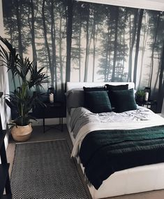 Check out the Sea of Trees Forest Mural Wallpaper, a minimal forest wallpaper design that will impress. With soft grey tones you can achieve a modern look.